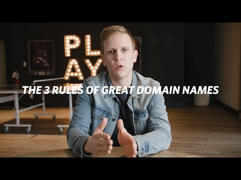 The 3 Rules Of Great Domain Names