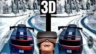 VR 3D Need for Speed VR Video 3D SBS Gameplay [Google Cardboard VR Box] Virtual Reality Video 3D SBS