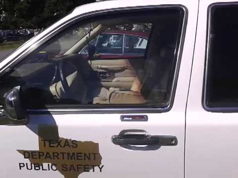 Texas police trooper at raby castle car show