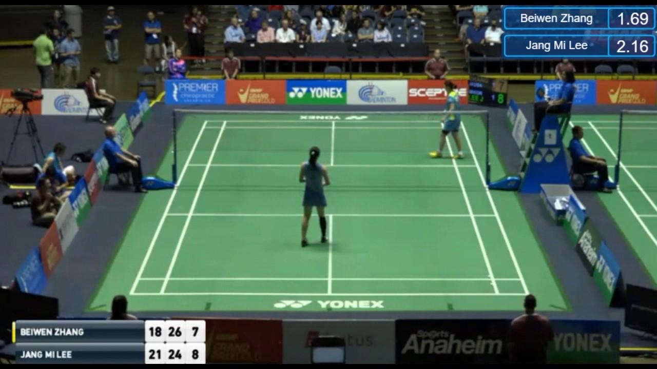 QF Badminton US Open 2017 Lee Jang Mi versus Zhang Beiwen