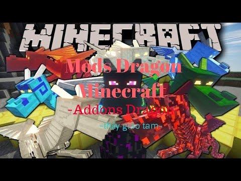 Cách Cài Mod Dragon Mounts Minecraft | Minecraft PE | Dành Cho Máy Yếu