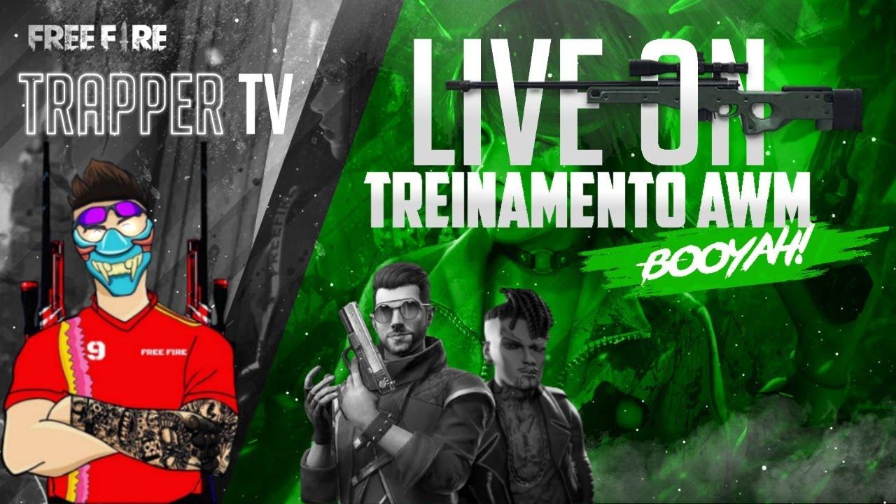 4X4 DOS CRIAS + TREINO AWM - FREE FIRE AO VIVO - 4K EASY #2300
