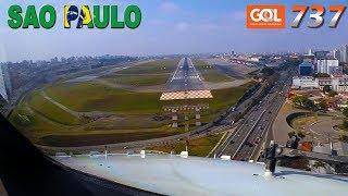 Pilotsview BOEING 737 into CONGONHAS Runway 17R