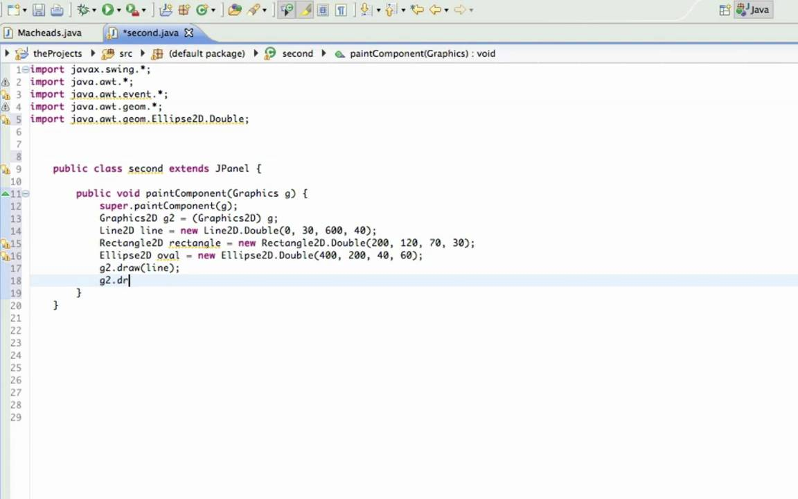 Drawing Lines In Java Gui : Java gui lesson drawing graphics youtube