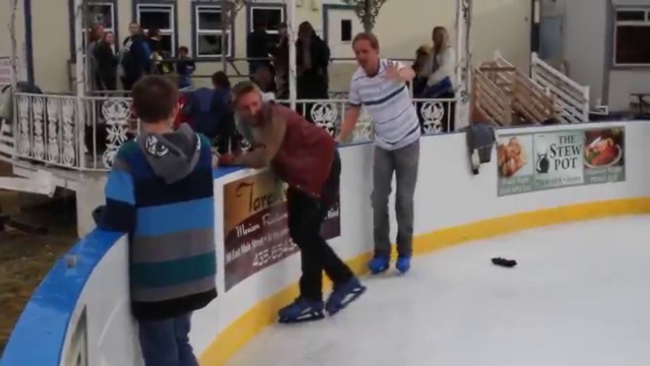 Learning To Ice Skate Fail