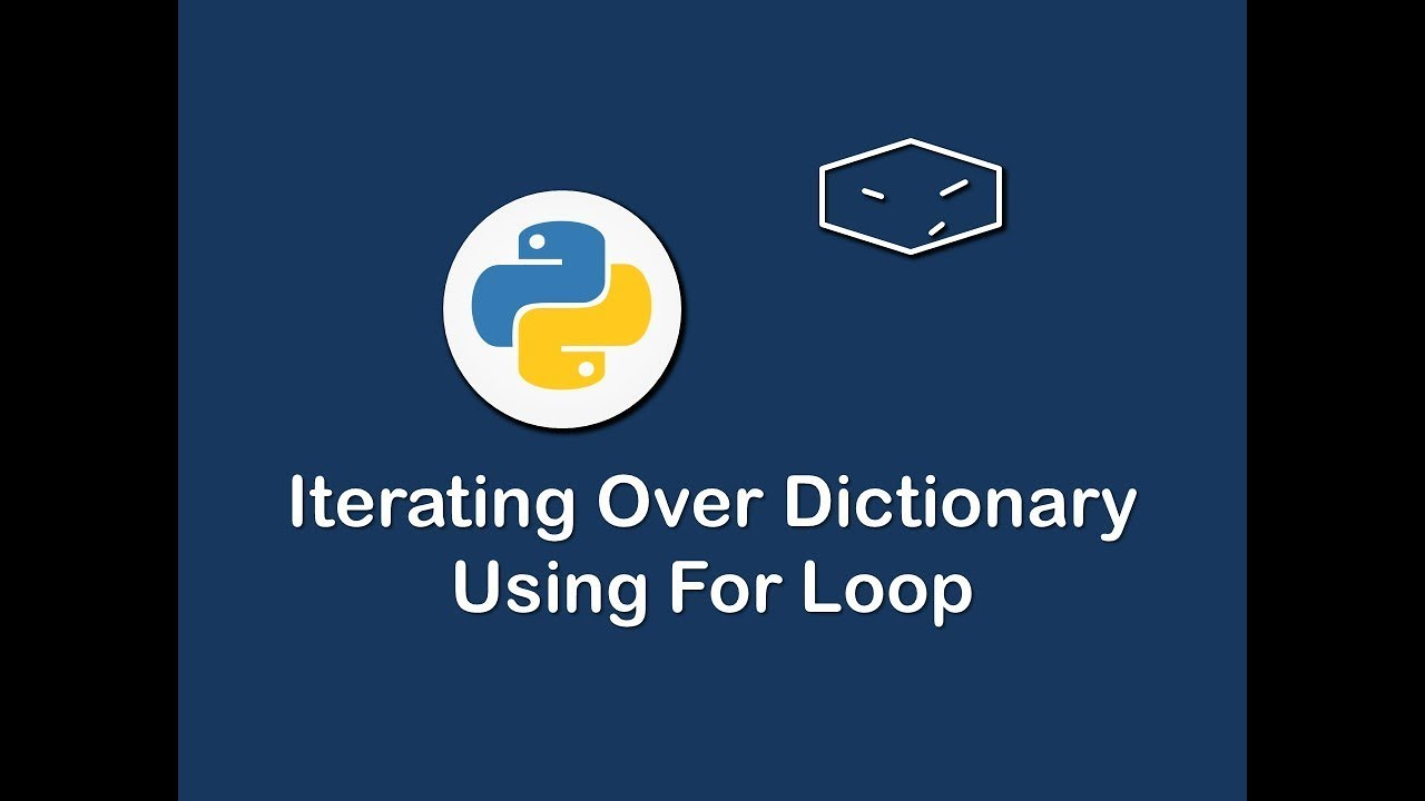 iterating over dictionaries using for loop in python - YouTube