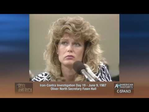 June 9, 1987 - Fawn Hall at Iran Contra Investigation - 30 Years Ago