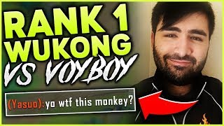 Download RANK 1 WUKONG VS. VOYBOY THE GENIUS!! EPIC MID LANE MATCHUP - League of Legends Mp3 and Videos