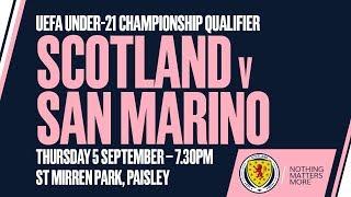 LIVE | Scotland U21s v San Marino U21s