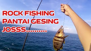 Rock fishing (karangan) pantai gesing gunung kidul, dapat ikan hias, genyuk genyuk !
