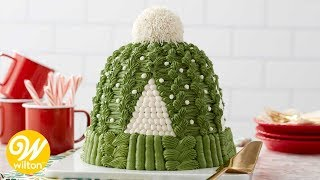 How to Make a Winter Knit Hat Buttercream Cake | Wilton