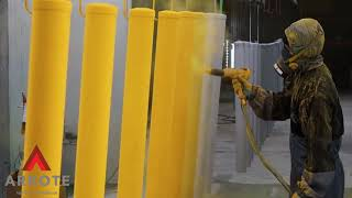 Arkote surface excellence   Top Coated Safety Posts