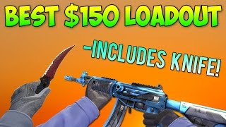 CS GO - $150 Budget Full Loadout Including Knife! (Best Cheap Skins)