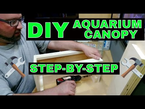 DIY Aquarium Canopy - How To Build - Step By Step