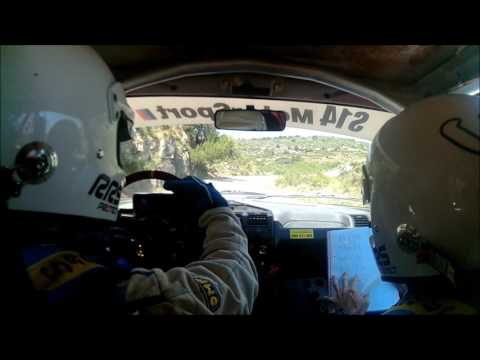 onboard 205 gti   Javier Estal/Jose Carlos Fernandez  rally Ceramica 2017 Argelita-Lucena