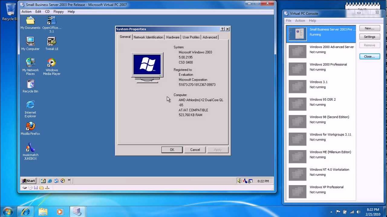 Small Business Server 2003 (Windows .net Server) (Pre-Release) in ...
