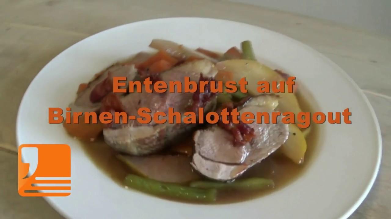 Ententbrust auf Birnen-Schalottenragout   Rezept aus der content.de ...