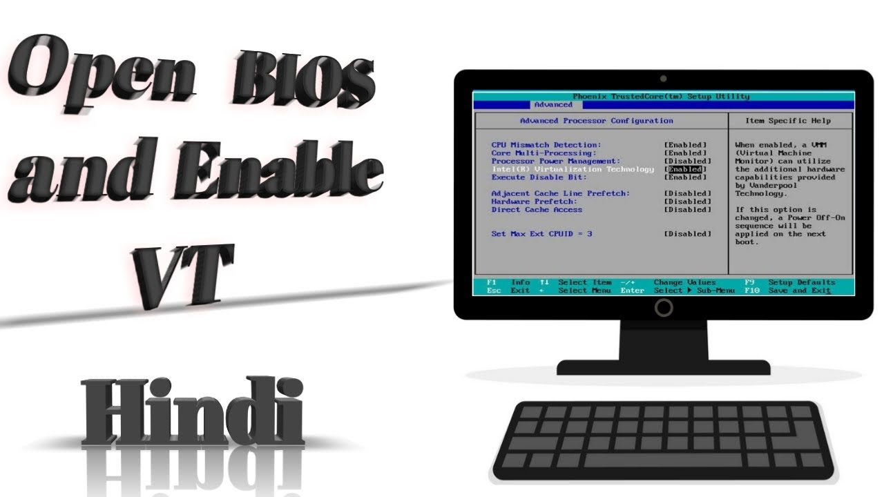 How to open BIOS setting/Enabled Virtualization technology in windows