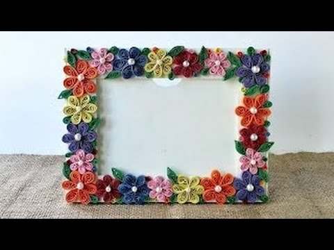 how to make a paper photo frame - YouTube