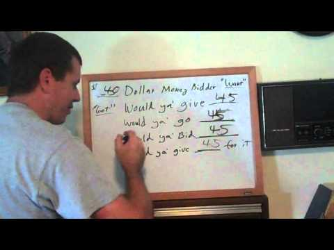 How to Auctioneer or Bid Call