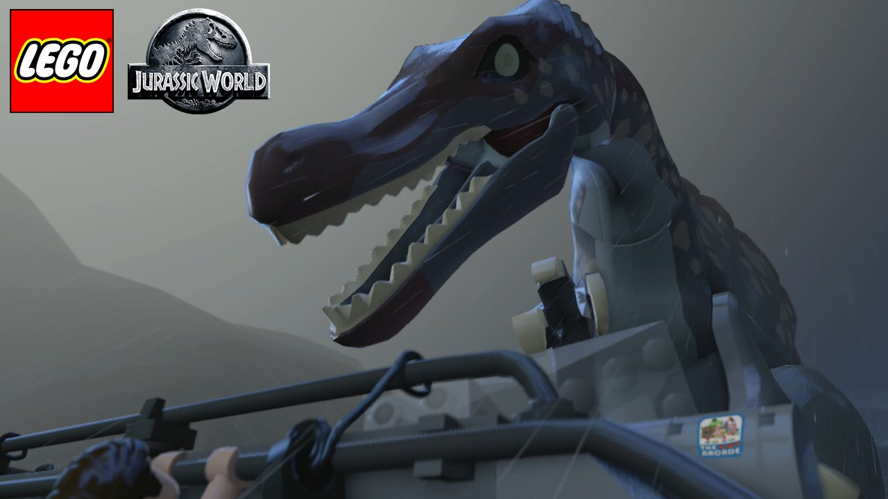 Lego jurassic world final spinosaurus showdown the end - Lego spinosaurus ...