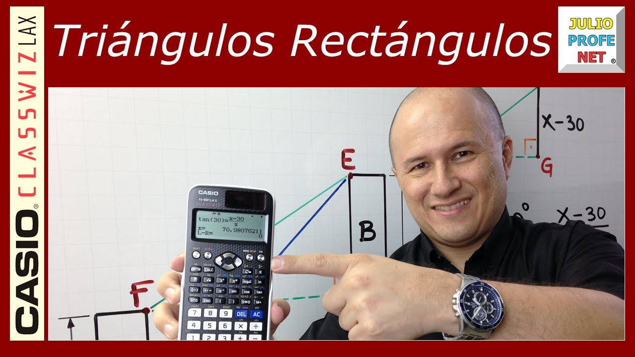 Problema 7 de TRIGONOMETRÍA EN TRIÁNGULOS RECTÁNGULOS - ft. Casio Classwiz