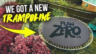 WE GOT A NEW TRAMPOLINE!