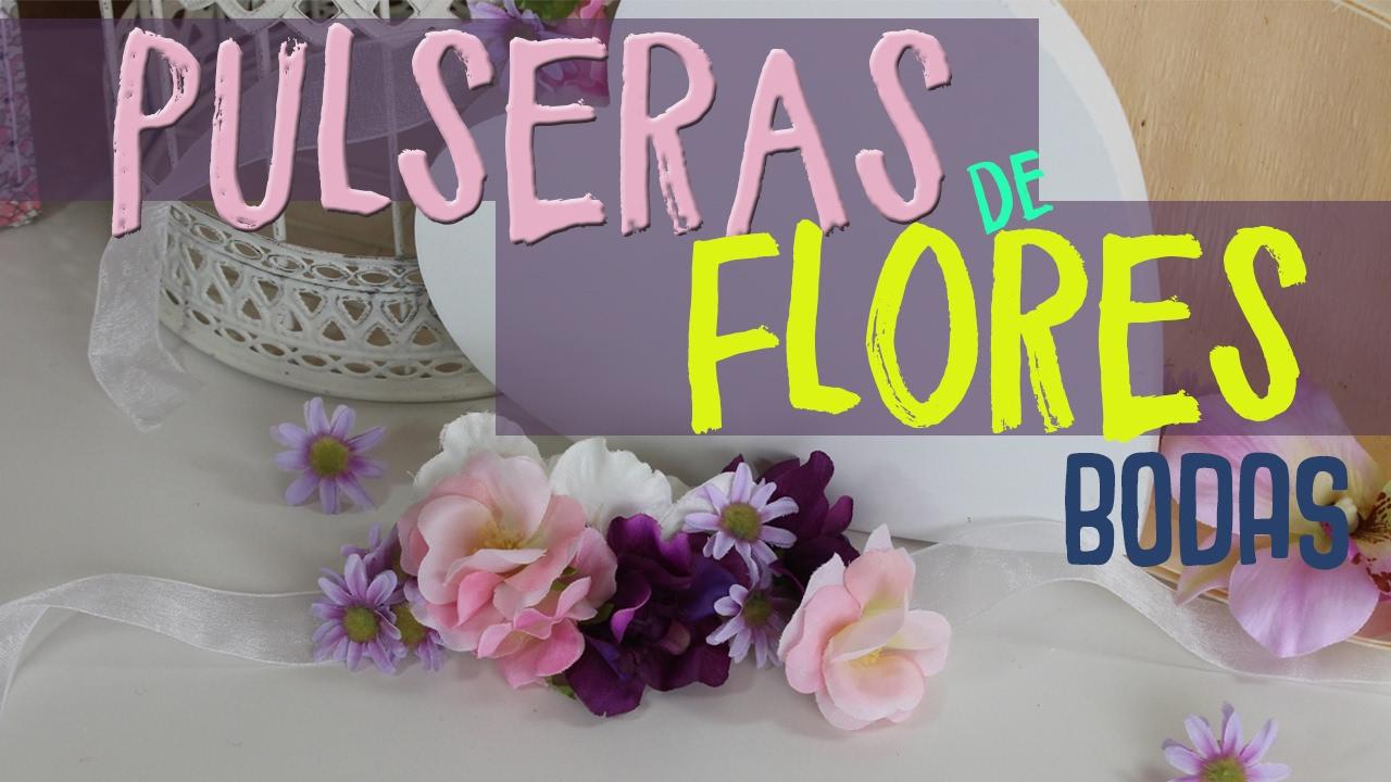 6be7f9c84ba3 Detalles para regalar a los invitados de una boda ¡MUY FACIL! ¡Pulseras de  Flores!  umamanualidades - YouTube