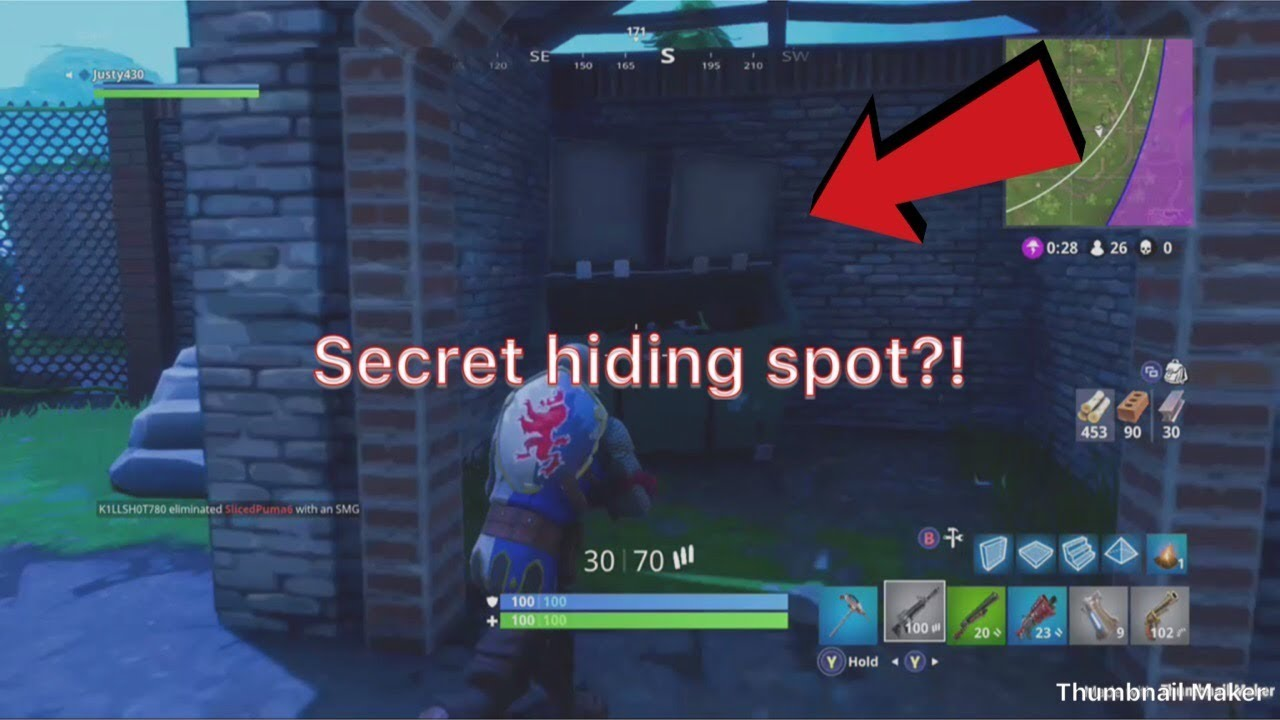 The Best Camping Spot In Fortnite Battle Royale Youtube