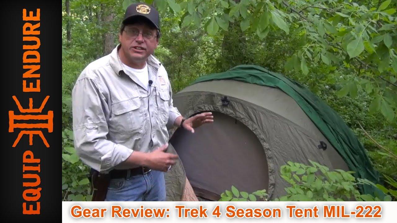Trek 4 Season Tent Model MIL 222 Gear Review by Equip 2 Endure - YouTube  sc 1 st  YouTube & Trek 4 Season Tent Model MIL 222 Gear Review by Equip 2 Endure ...