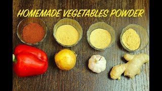 HOMEMADE VEGETABLE POWDERS *COOK WITH FAIZA*