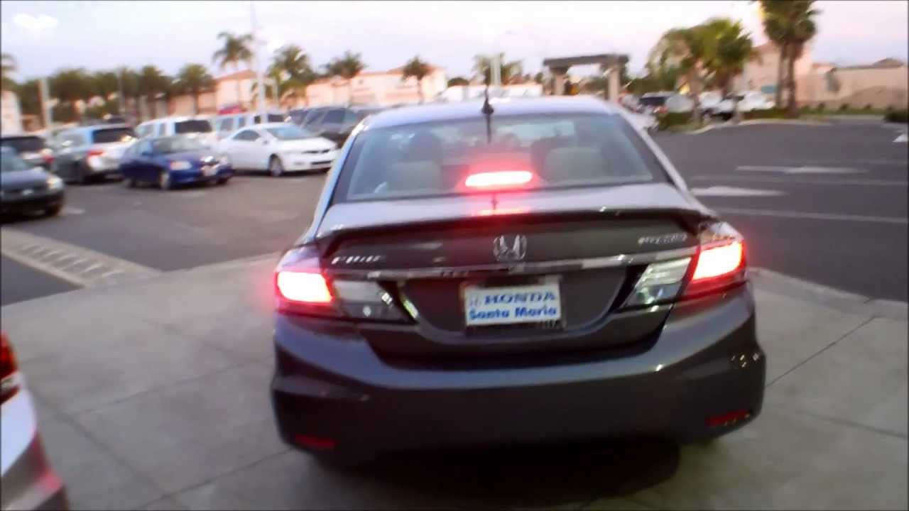 2013 Honda Civic Hybrid Tail Lights Youtube