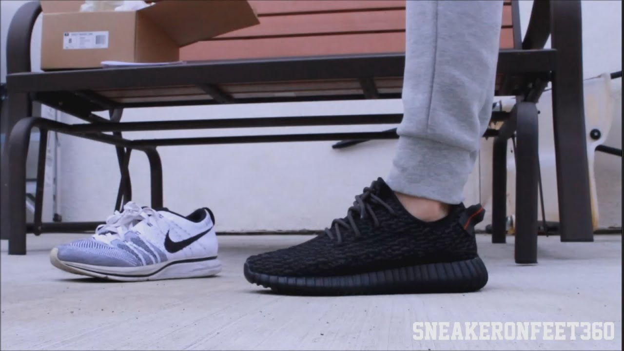 993a830d2 Adidas Yeezy 350 Boost Pirate Black - YouTube