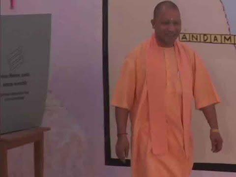 UP CM Yogi Adityanath casts his vote in Gorakhpur