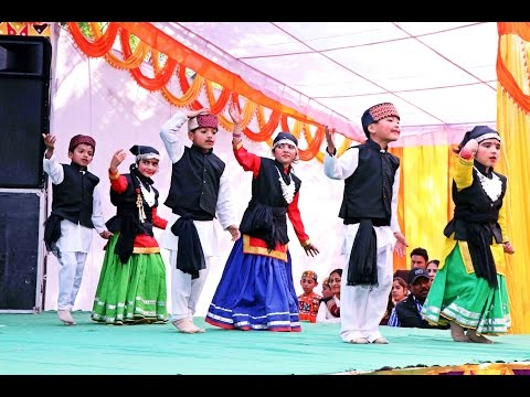 Pahari Nati   Himachali Dance by Kids in School Annual Fuction.