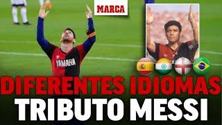 Maradona y Messi: los audios el homenaje de Leo a Diego en diferentes idiomas I MARCA
