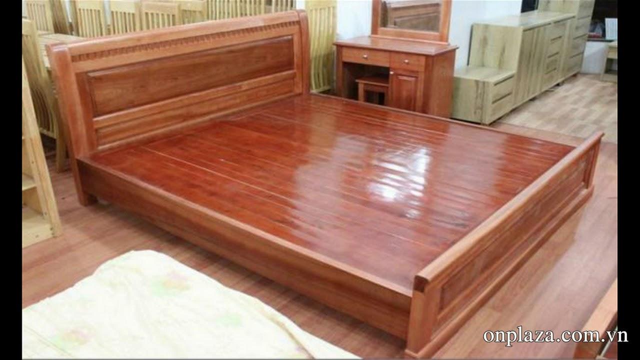 Tuyển tập những mẫu giường ngủ gỗ xoan đào đẹp giá rẻ 2018