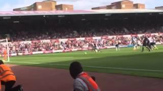 West ham v Tottenham 2014  mark noble penalty miss