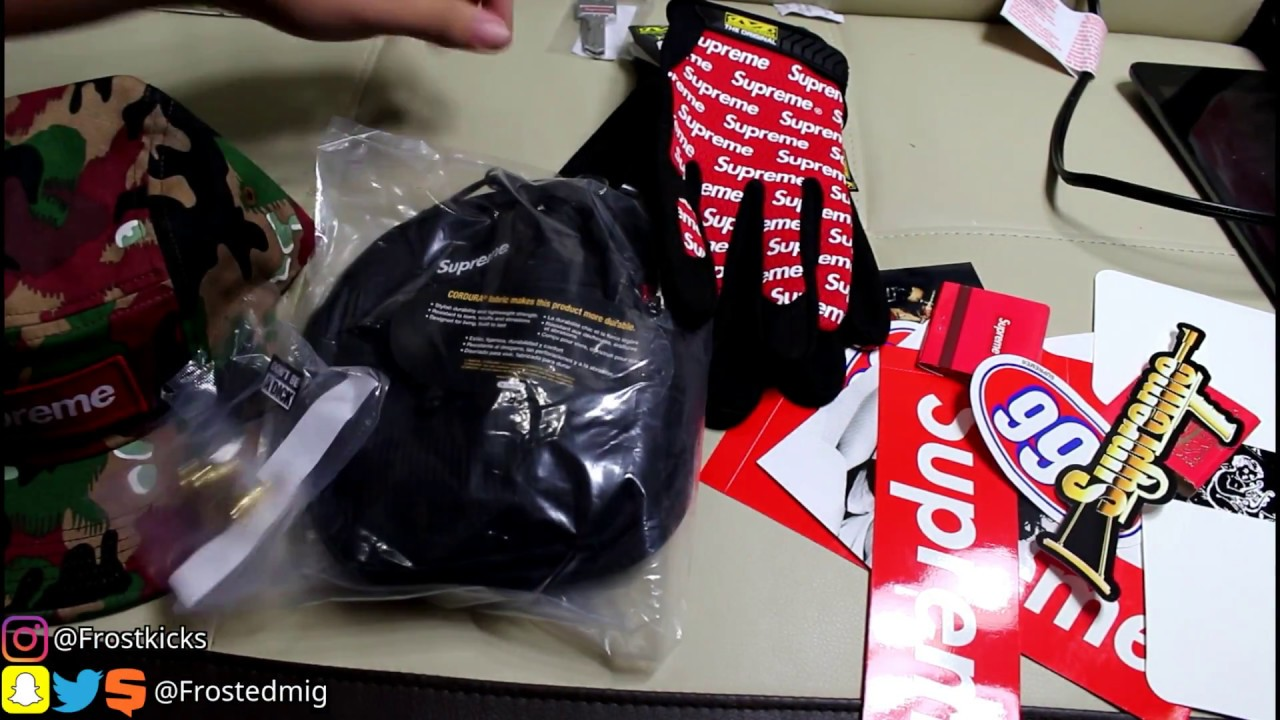 Unboxing/Review SUPREME SS17 WEEK 1 PICKUPS, Gloves, Camo Camp Cap