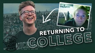 going back to college (my first dorm & getting honored by MSU)