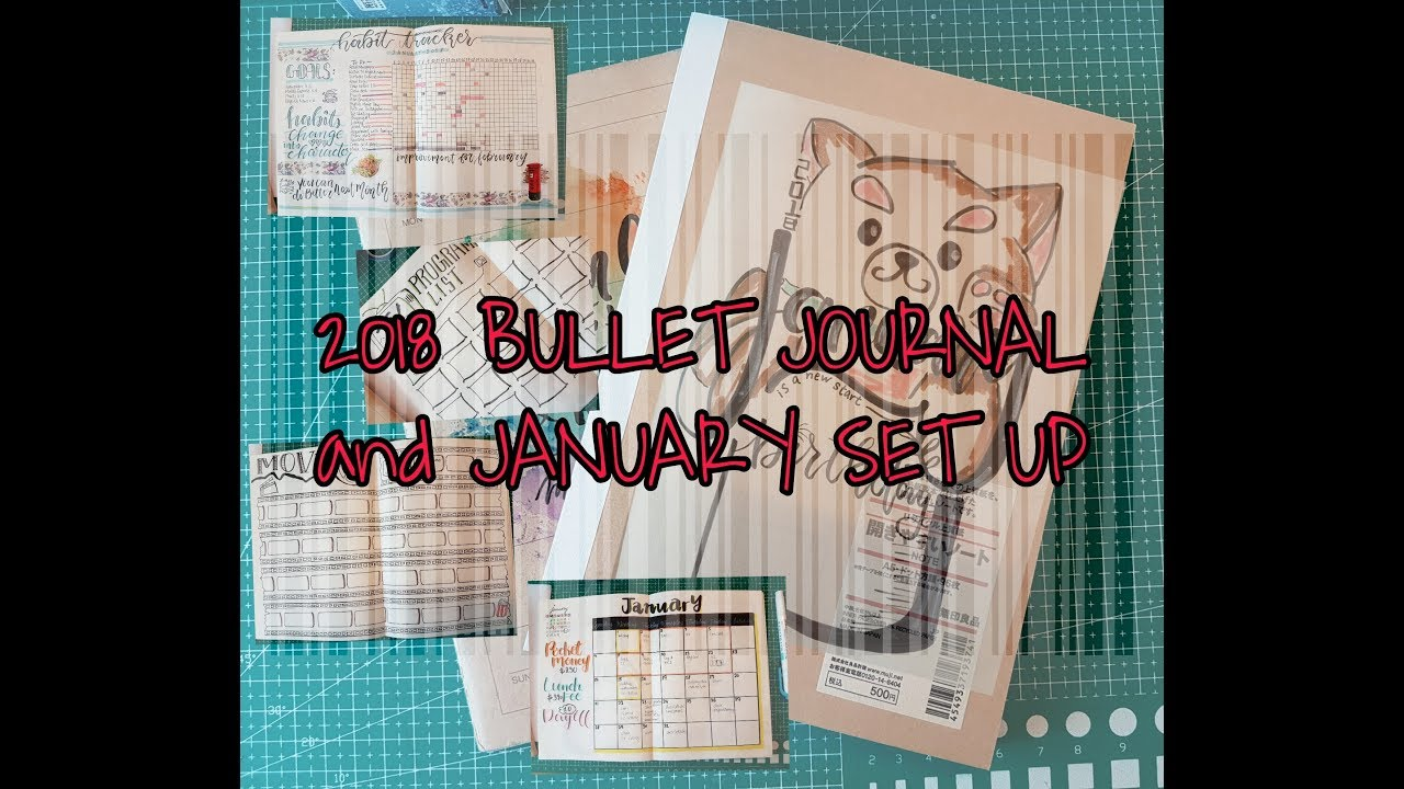 PLAN WITH ME ~ 2018 Bullet Journal and January Set Up Sharing