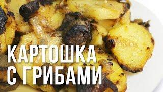 Простой рецепт. Жареная картошка с грибами