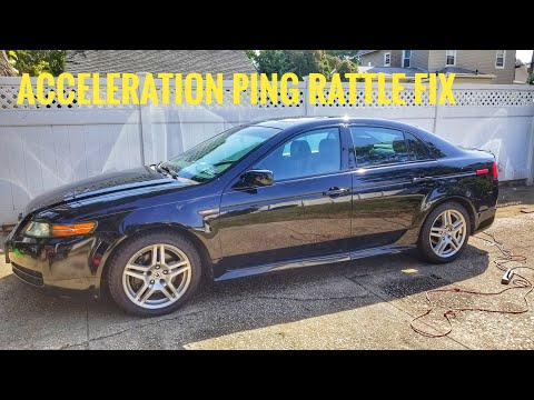 HOW TO FIX ACURA TL MDX RL RSX PINGING RATTLE SQUEAL FIX DURING LIGHT  ACCELERATION TUTORIAL