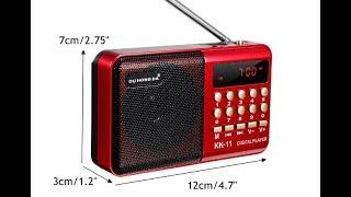 Портативное минирадио, цифровой FM USB TF MP3 плеер .Обзор.