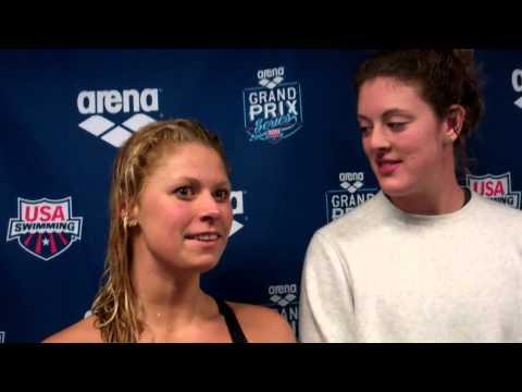 Allison Schmitt (NBAC) and Elizabeth Beisel (Florida)