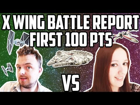 X-Wing Battle Report - First 100 Point Battle!