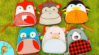 Animal BackPacks! Learn Real Animals with Kids Bags by Squishee Nugget