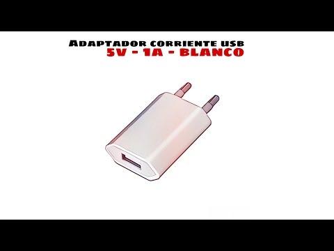 Video de Adaptador de corriente USB compatible con Ipod/Iphone  Blanco