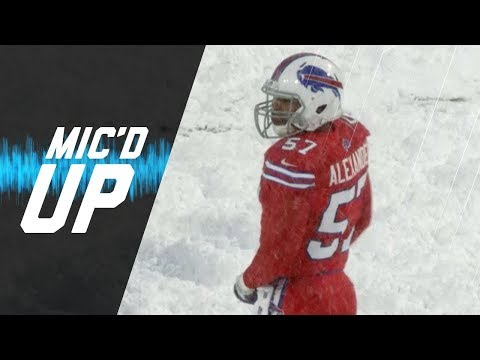 """Lorenzo Alexander Mic'd Up vs. Colts """"This is Video Game Weather Right Here"""" 