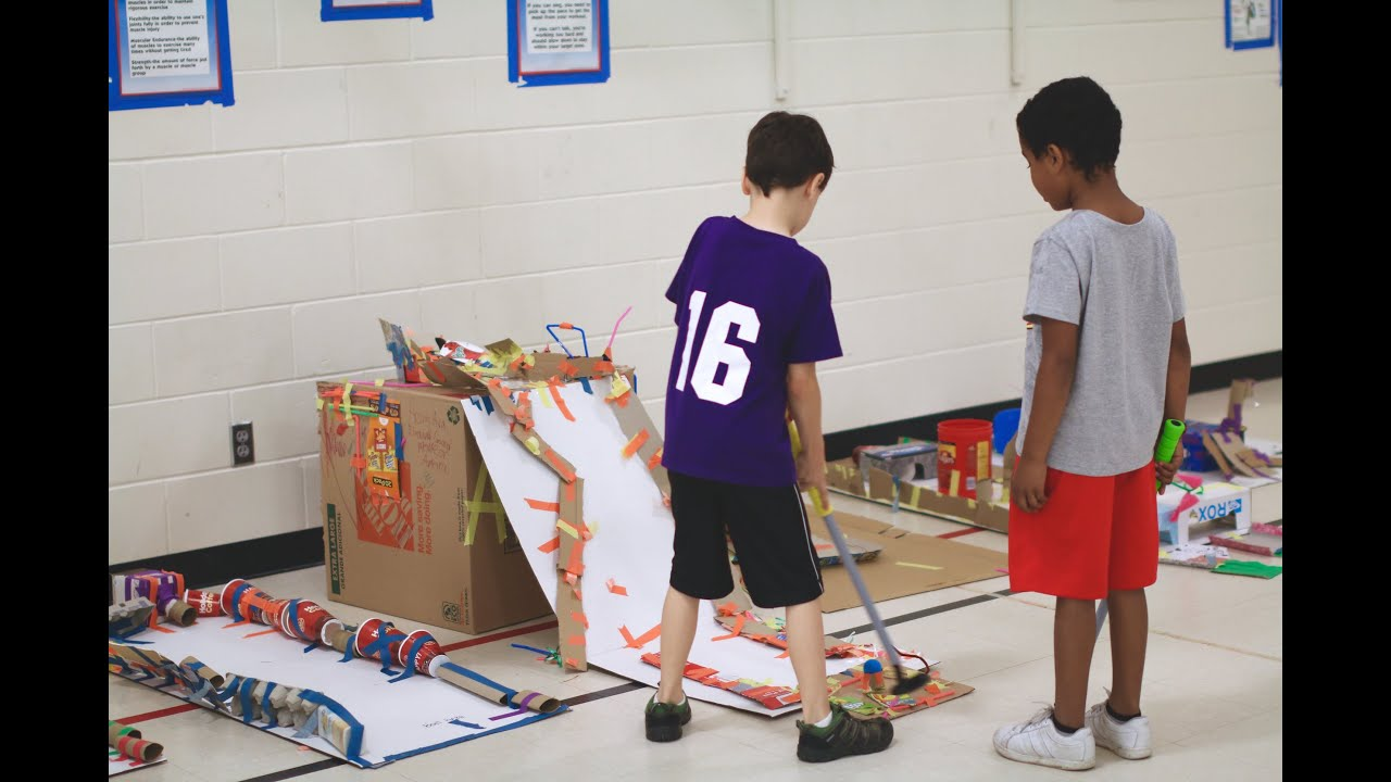Park Terrace Students Design Cardboard Mini Golf Course Youtube
